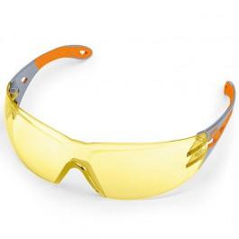Veiligheidsbril in geel, optimaal bij zeer hoge contrastwerking