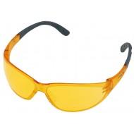 Gele veiligheidsbril, optimaal bij zeer hoge contrastwerking